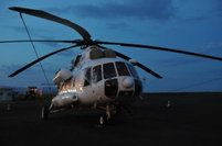 Night flight in The Republic of the Southern Sudan